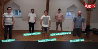 Unser Kreisvorstand, v.l.n.r.: Sven Moder, Andreas Walter, Sascha Vanselow (Vorsitzender), Samuel Herrmann, René Wörner